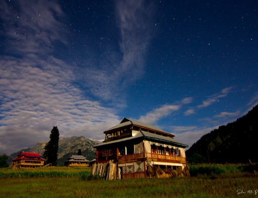 Night view of Arang Kel under full moon light