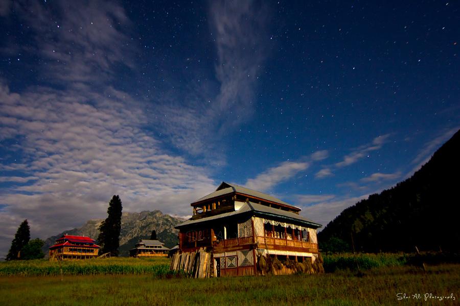Night view of Arang Kel under full moon light