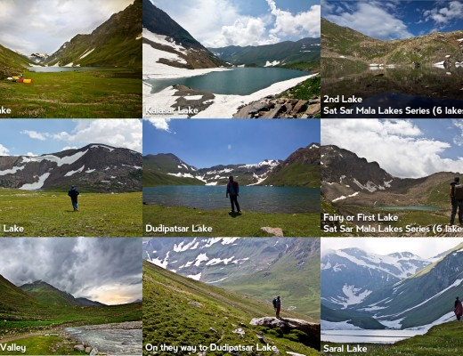 Lakes of Kaghan and Kashmir Valleys