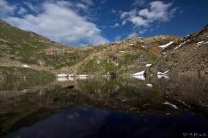 Reflection in 2nd lake of Sat Sar Mala Lakes Chain