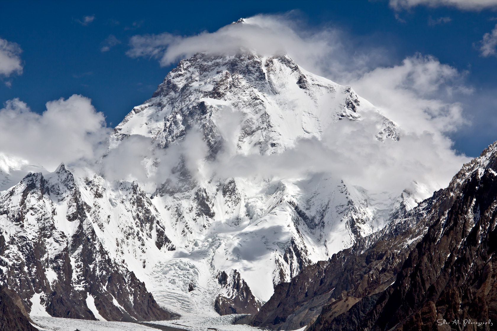 K2 view from Vigne Glacier