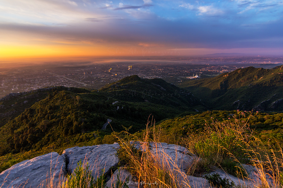 beautiful view of Islamabad after sunrise