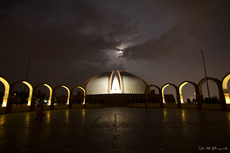 full moon over pakistan monument