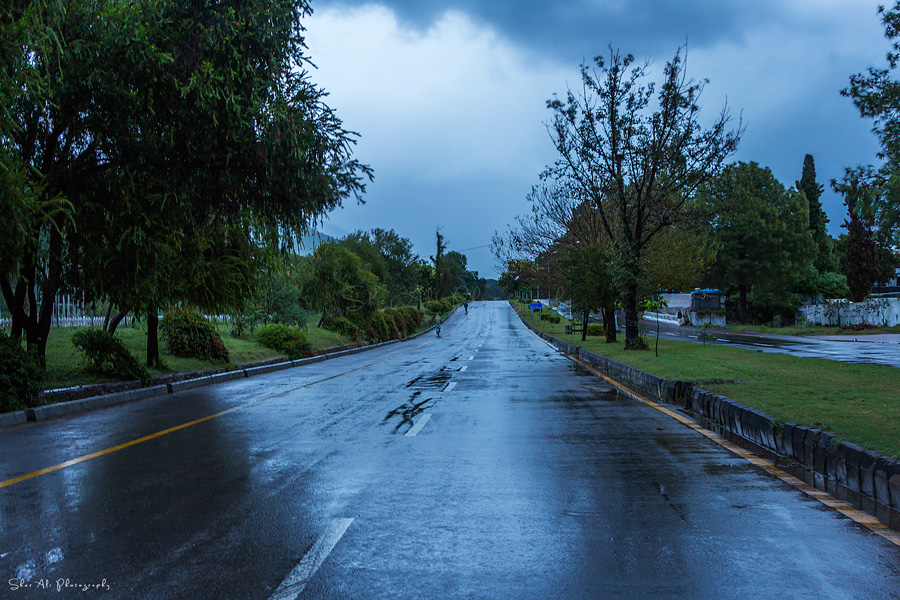 margallah road view after rain