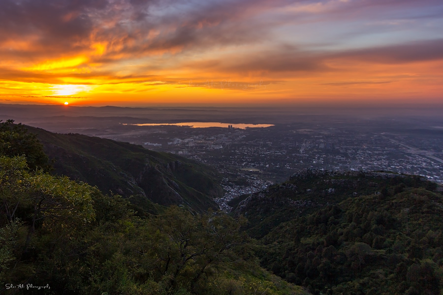 stunning sunrise view from margalla hills
