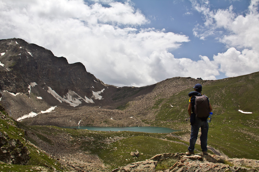 Fairy lakeof Sat Sar Mala lakes series in Kaghan valley, KPK