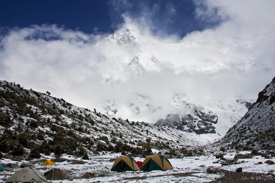 Herrligkoffer base camp, Rupal side of Nanga Parbat, Astore valley, Gilgit Baltistan