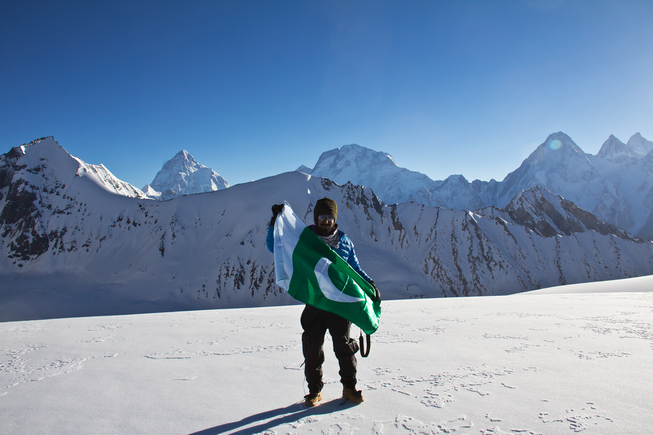 On top of Gondogoro La 5940m, Karakoram, Baltistan