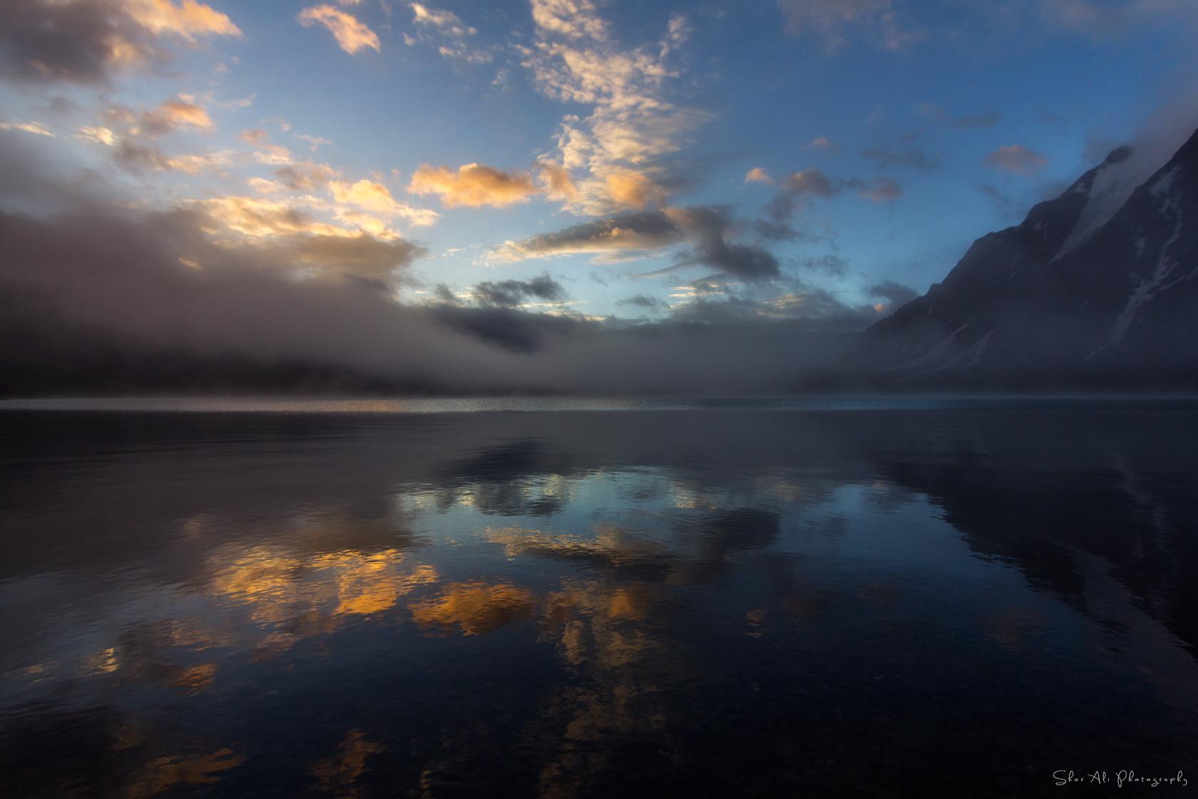 Glorious Morning at karomber lake