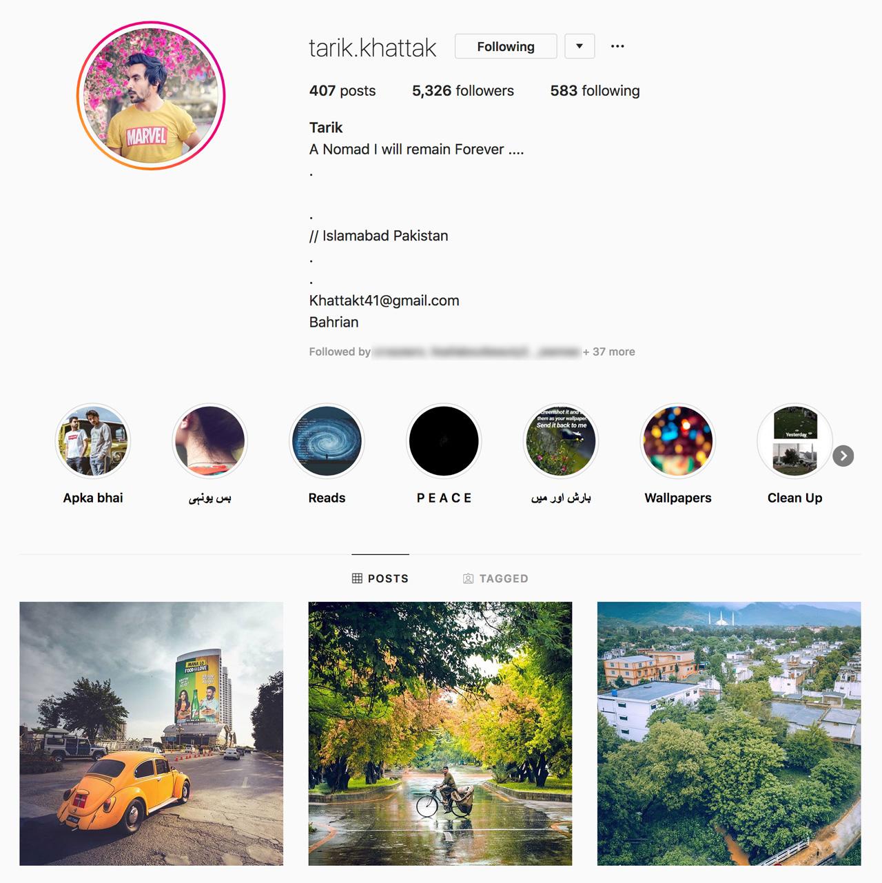 Tarik Khattak on Instagram