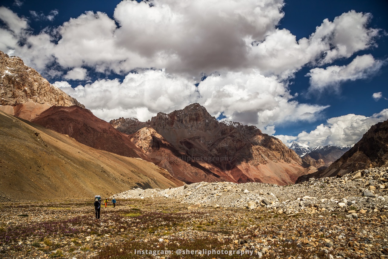Trekking towards Chillinji pass base camp