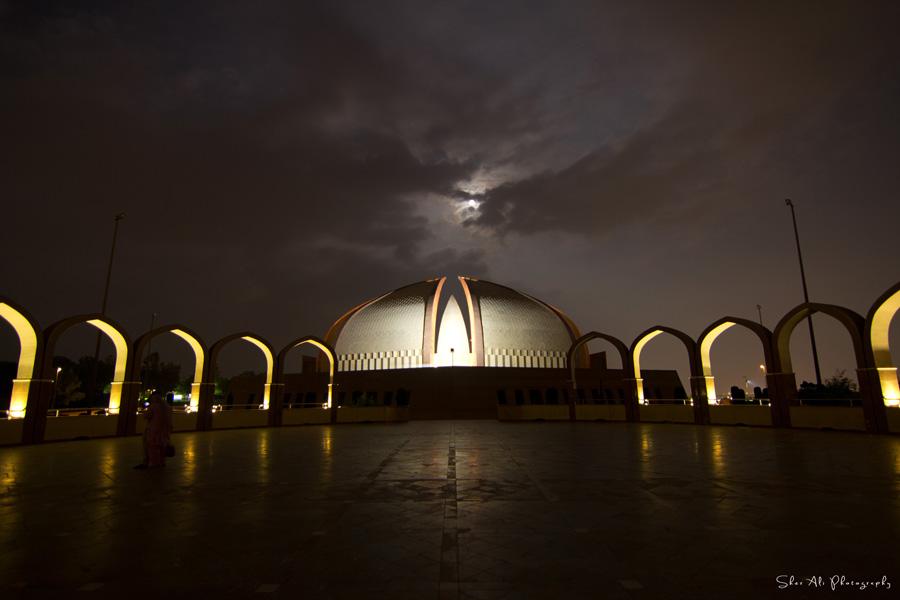full moon over pakistan monument