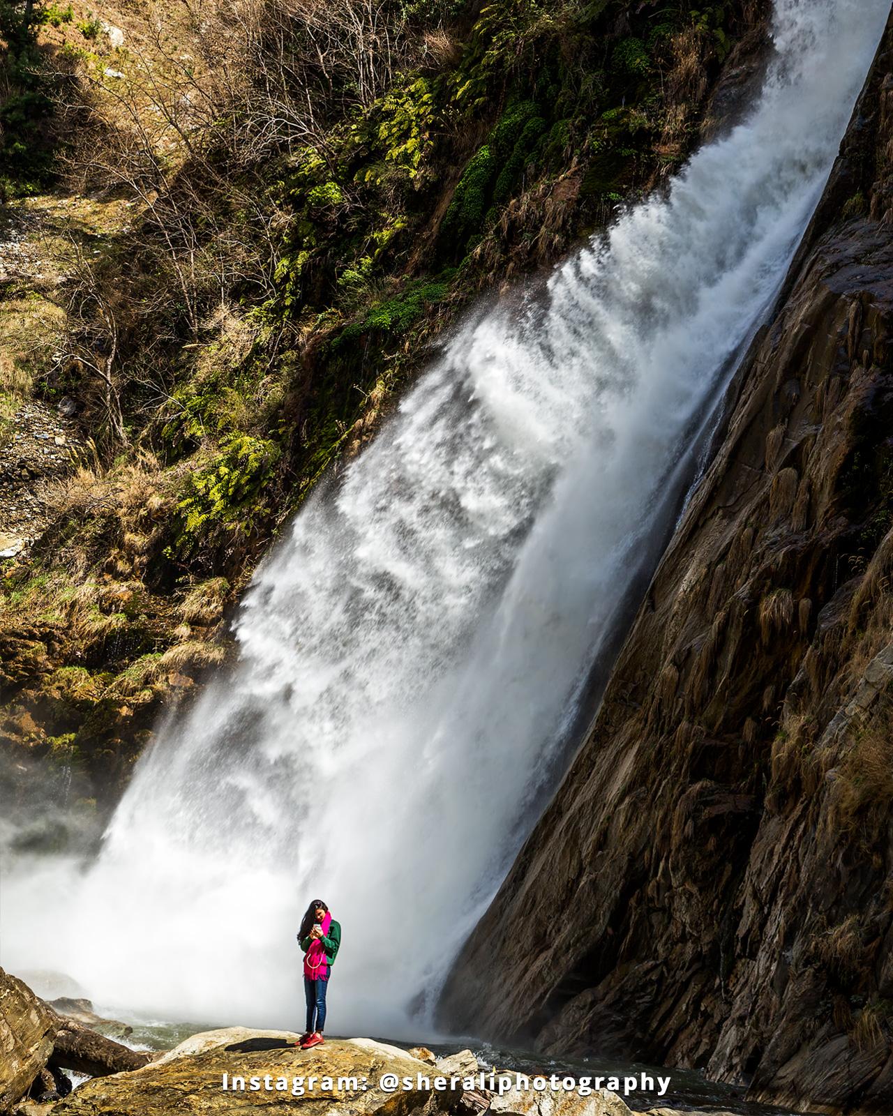 Solitude at Chamb waterfall