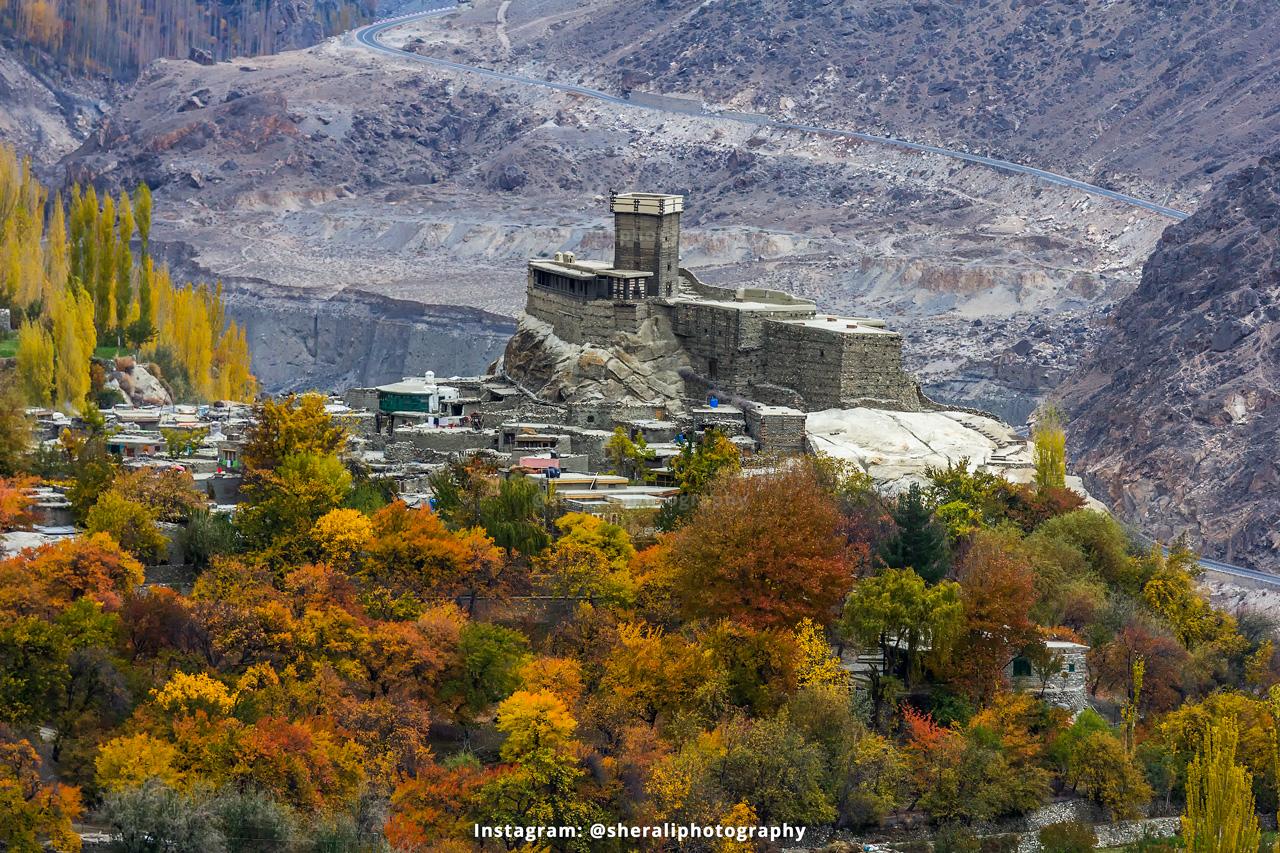 Altit Fort in Autumn Season
